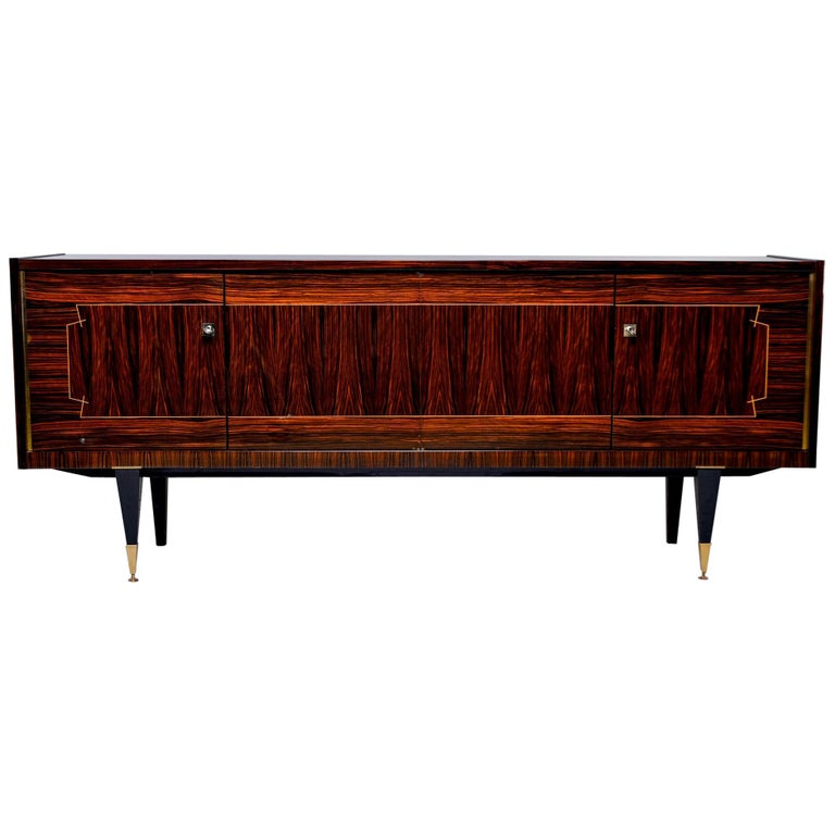 French Art Deco Macassar Buffet or Sideboard For Sale
