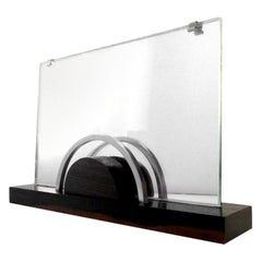 French Art Deco Macassar, Chrome and Mirror Photo Frame, 1930
