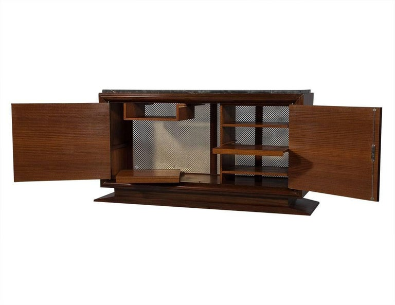 French Art Deco Macassar Ebony and Marble Sideboard In Good Condition In North York, ON