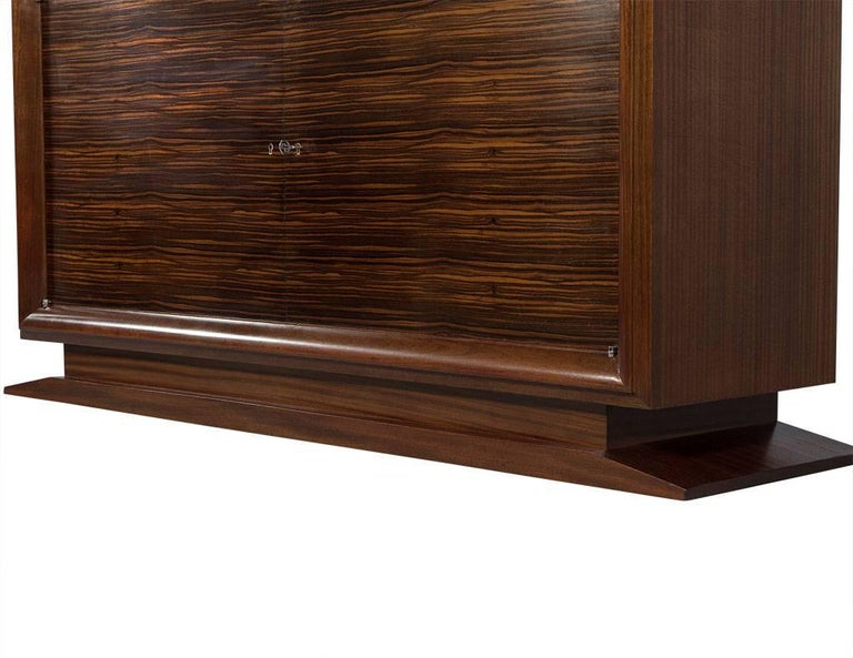 Mid-20th Century French Art Deco Macassar Ebony and Marble Sideboard