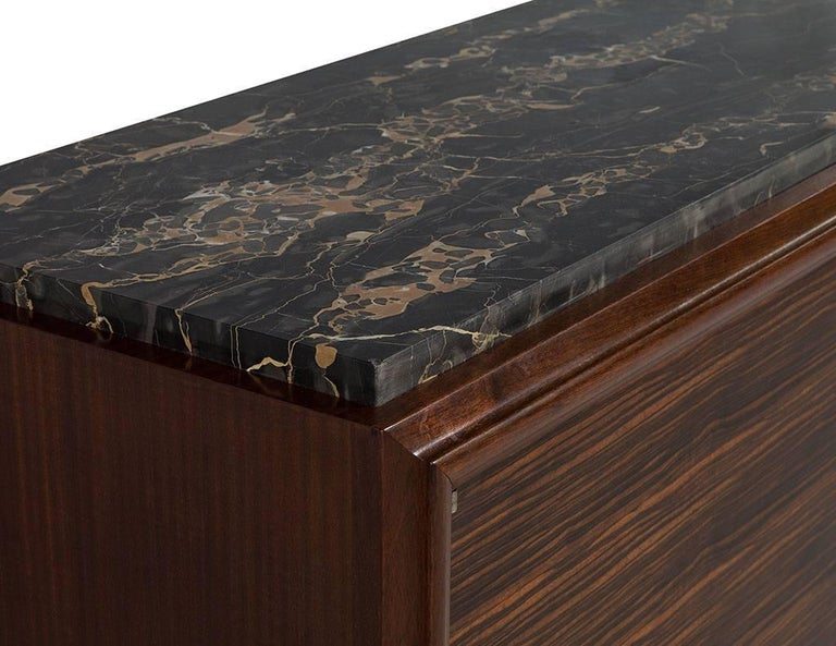French Art Deco Macassar Ebony and Marble Sideboard 2