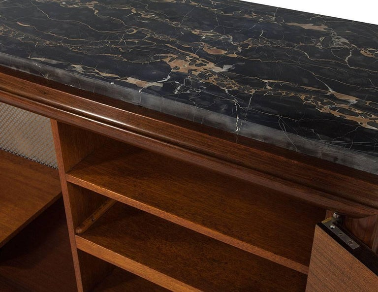 French Art Deco Macassar Ebony and Marble Sideboard 3