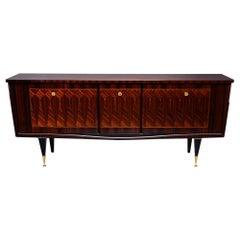French Art Deco Macassar Ebony Buffet or Credenza