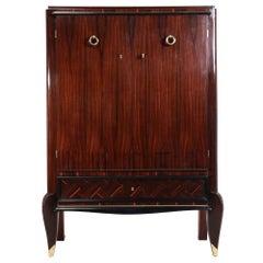 French Art Deco Macassar Ebony Cabinet, c.1930
