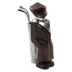 French Art Deco Macassar Wood Golf Caddie Cocktail Picks