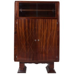 French Art Deco Mahogany Display Cabinet