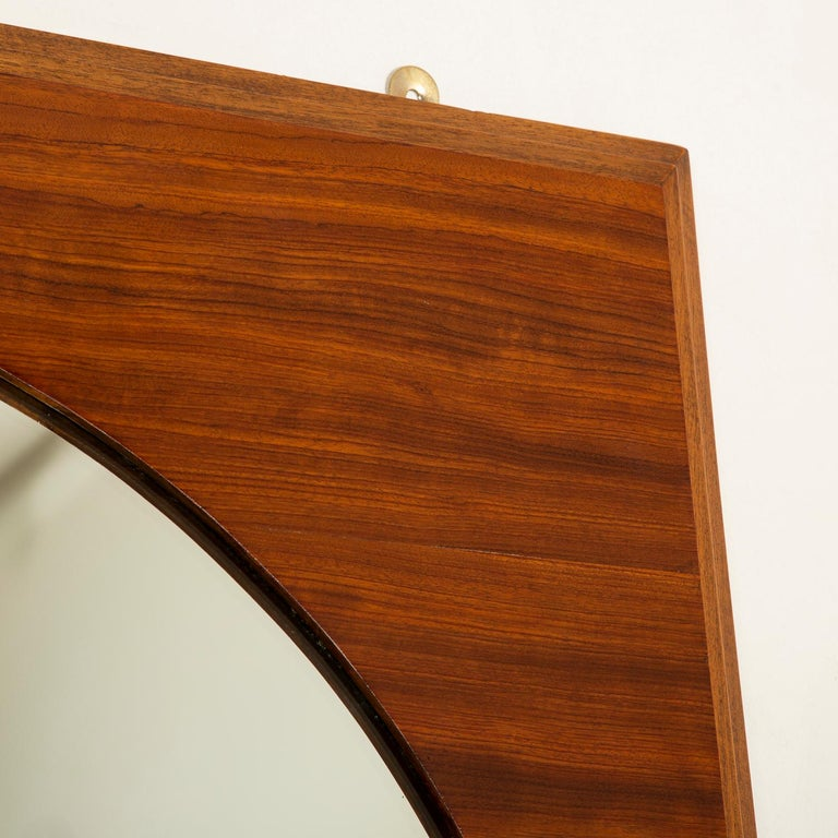 French Art Deco Mahogany Mirrors with Consoles For Sale 3