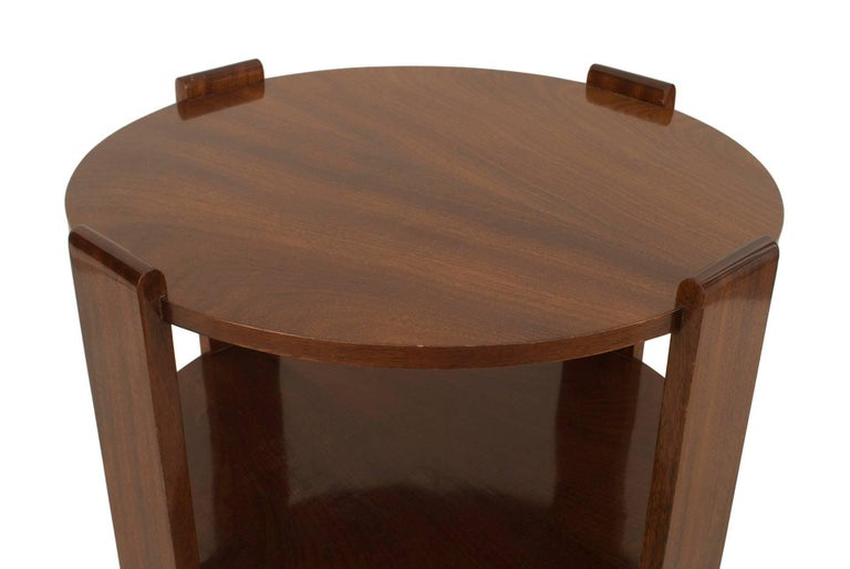French Art Deco Mahogany Round Coffee Table In Good Condition For Sale In New York, NY