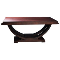 French Art Deco Mahogany Table