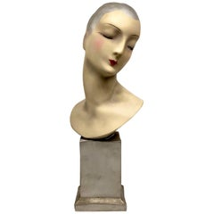 French Art Deco Mannequin Display of 1920s Flapper