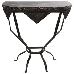 French Art Deco Marble Top Console
