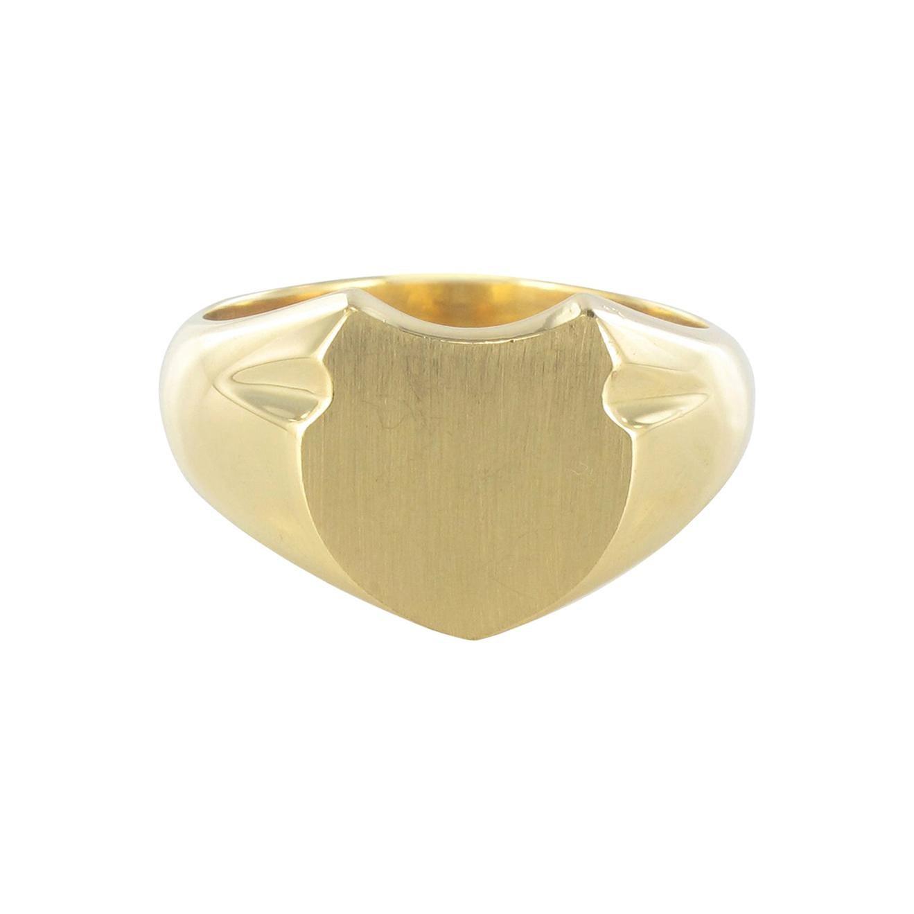 French Art Deco Men's 18 Karat Yellow Gold Signet Ring