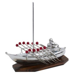 French Art Deco Miniature Boat Cocktail Picks