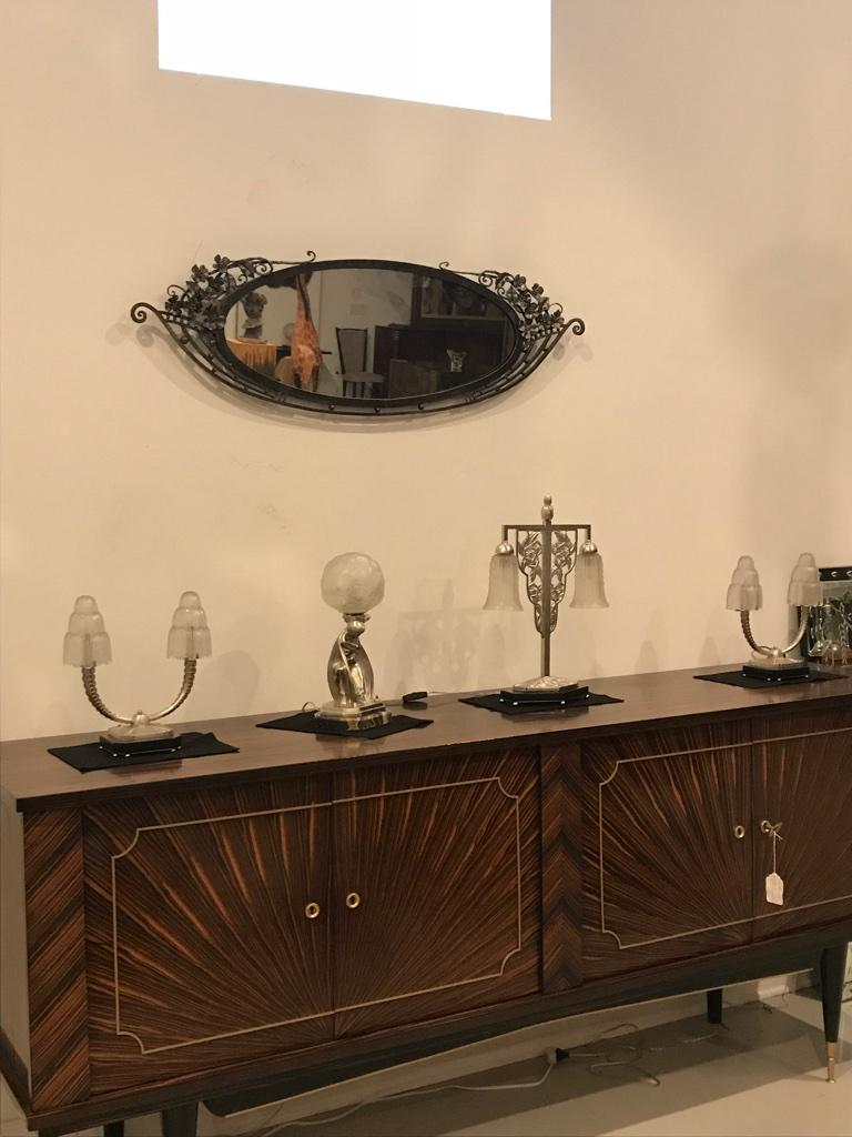 French Art Deco Mirror In Good Condition For Sale In North Bergen, NJ