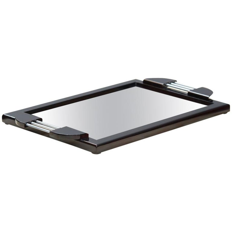 French Art Deco Mirror Tray, 1930s For Sale
