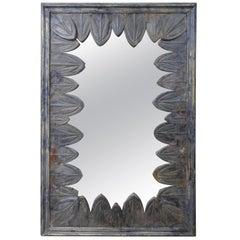 French Art Deco Mirror with Zinc Petals