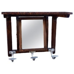 French Art Deco Mirrored Coat Rack