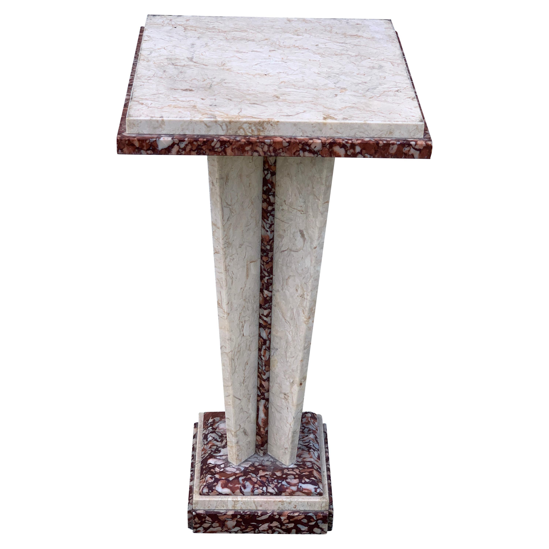 French Art Deco/Modern Marble Pedestal