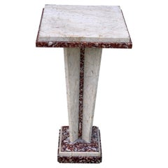 French Art Deco/Modern Marble Pedestal