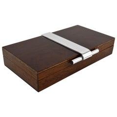 French Art Deco Modernist Cigar or Cigarette Box, 1930s