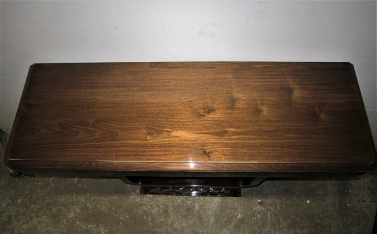 French Art Deco/ Modernist Cubist Console with Nickel Accents For Sale 10