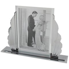 French Art Deco Chrome Picture Frame