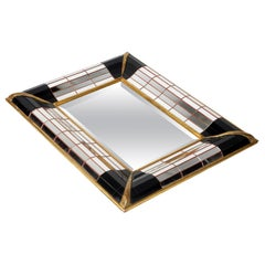 French Art Deco Mosaic Glass Mirror from Collection de La Marquise de Sevigne