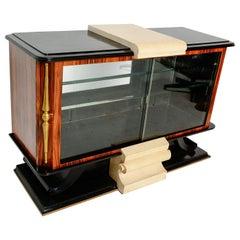 French Art Deco Neoclassical Credenza Sideboard Roberto & Mito Block