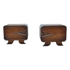 French Art Deco Night Stands from the 1930s