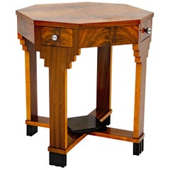 French Art Deco Octagonal Occasional or Accent Table