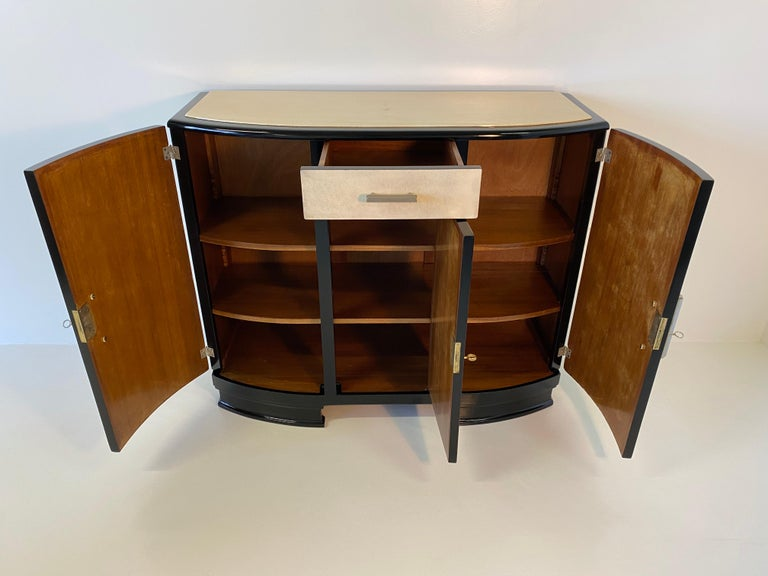 French Art Deco Parchment Sideboard, 1930s For Sale 6