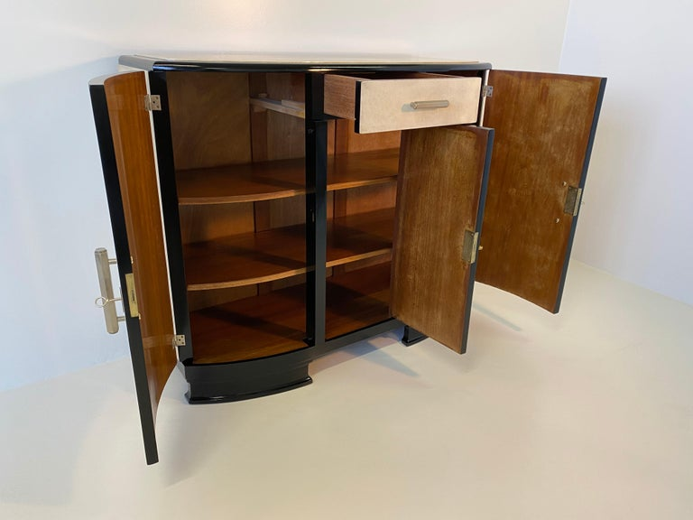 French Art Deco Parchment Sideboard, 1930s For Sale 7