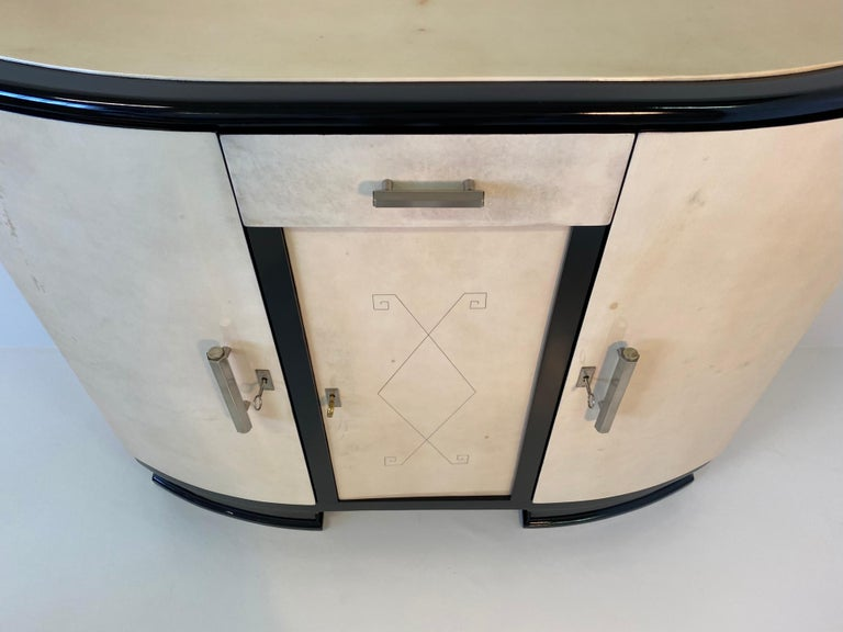 French Art Deco Parchment Sideboard, 1930s For Sale 2