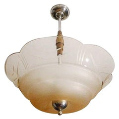 French Art Deco Pendant Chandelier, 1930