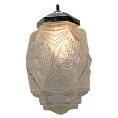 French Art Deco Pendant Chandelier by