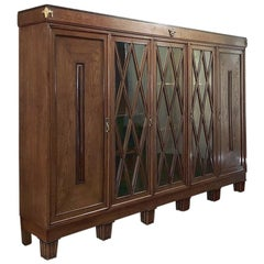 French Art Deco Period 4-Door Bookcase