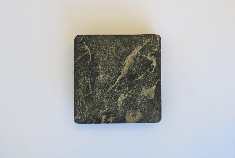 French Art Deco Period Black Marble Ashtray or Vide-Poche 12