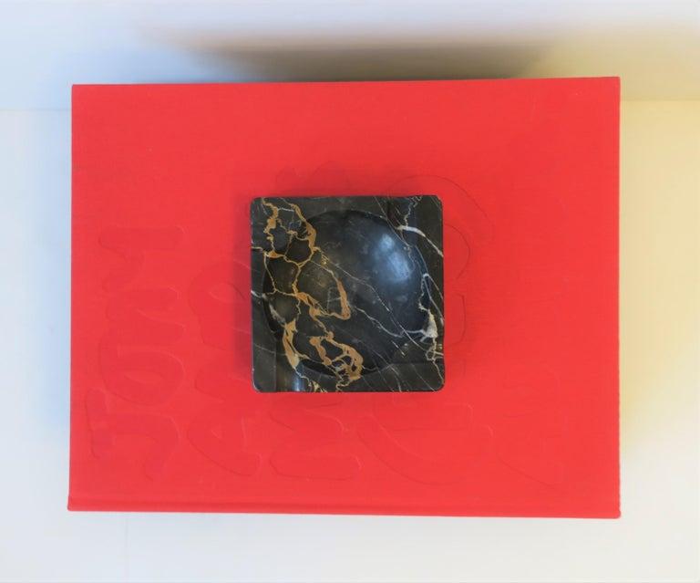Mid-20th Century French Art Deco Period Black Marble Ashtray or Vide-Poche