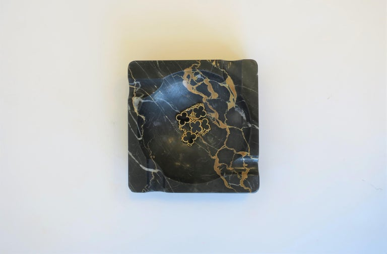 French Art Deco Period Black Marble Ashtray or Vide-Poche 1