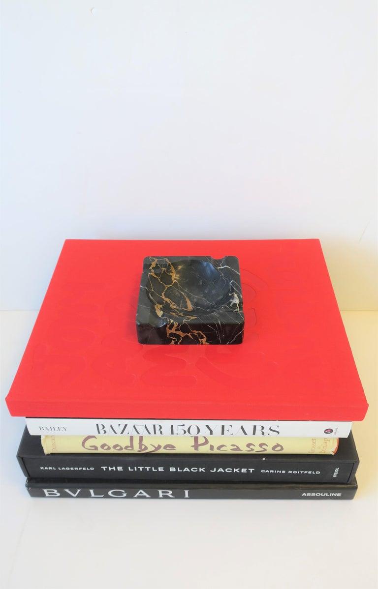 French Art Deco Period Black Marble Ashtray or Vide-Poche 2