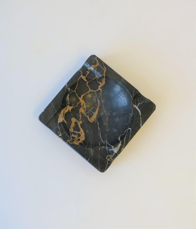 French Art Deco Period Black Marble Ashtray or Vide-Poche 4
