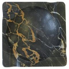 French Art Deco Period Black Marble Ashtray or Vide-Poche