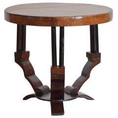 French Art Deco Period Cherrywood and Ebonized Low Table, circa 1935