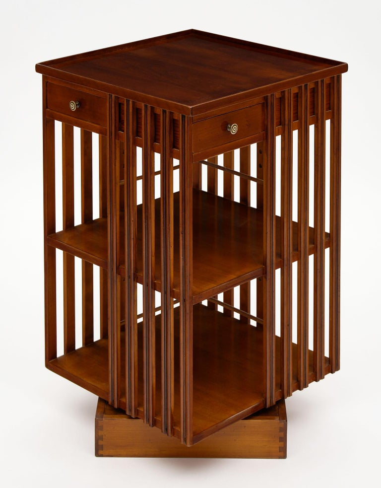 Mid-20th Century French Art Deco Period Revolving Bookcase For Sale