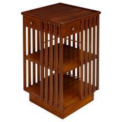 French Art Deco Period Revolving Bookcase