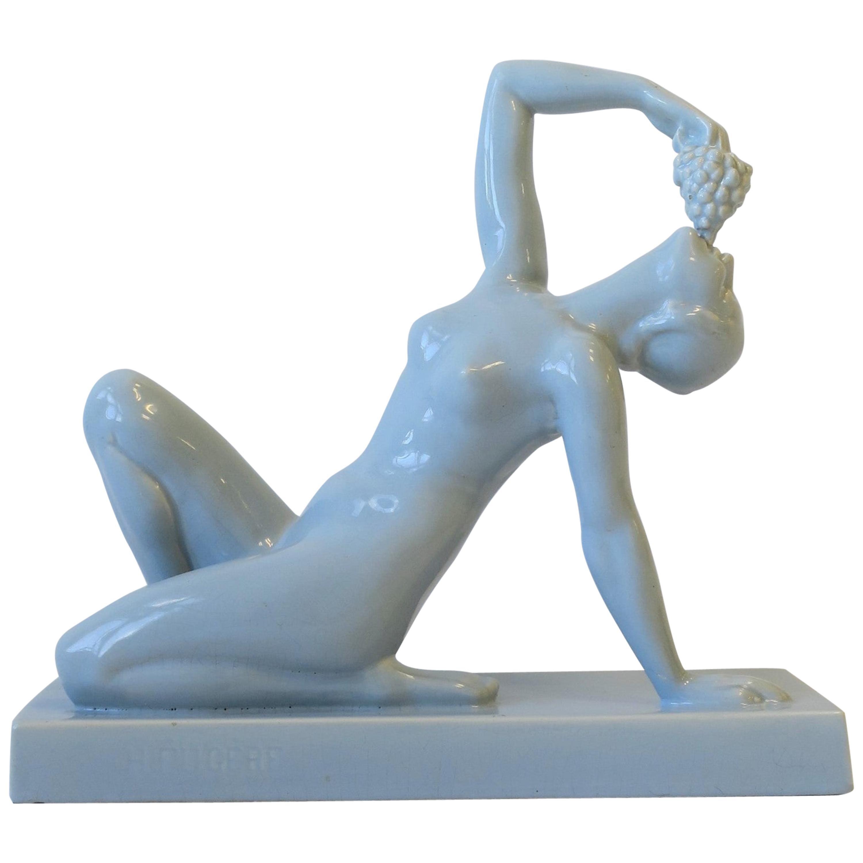 French Art Deco Period Sculpture by Sculptor Hernri Fugere