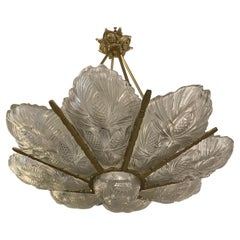 French Art Deco Pine Cone Chandelier Signed by Sabino