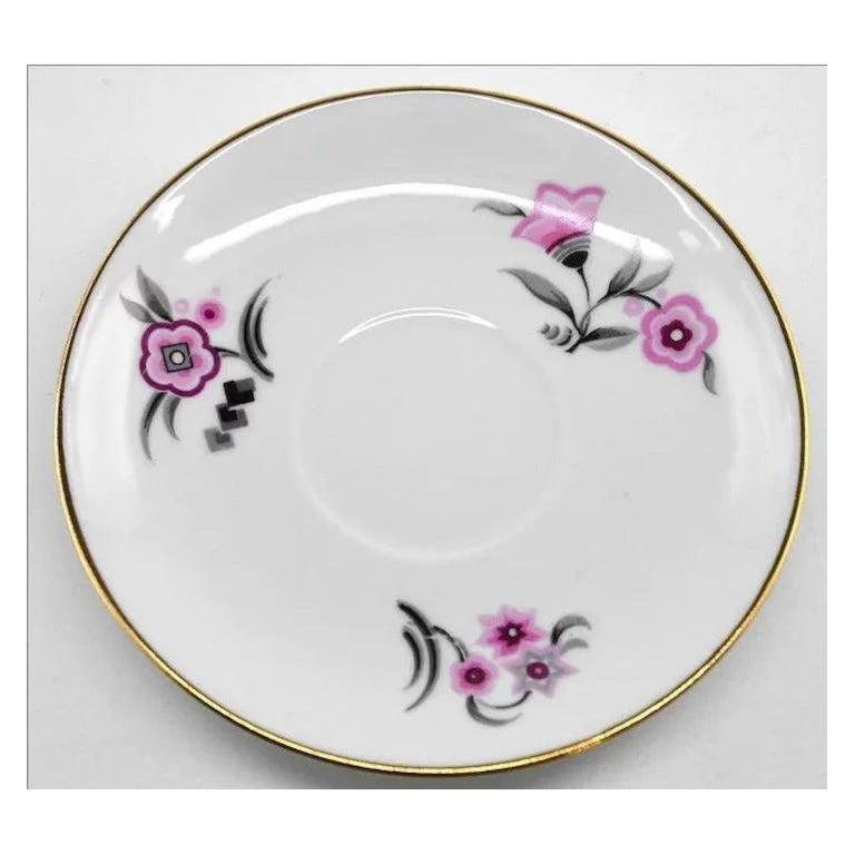 French Art Deco Porcelain Tea or Chocolate Set, Bernardaud & Baranger-Reboisson For Sale 1