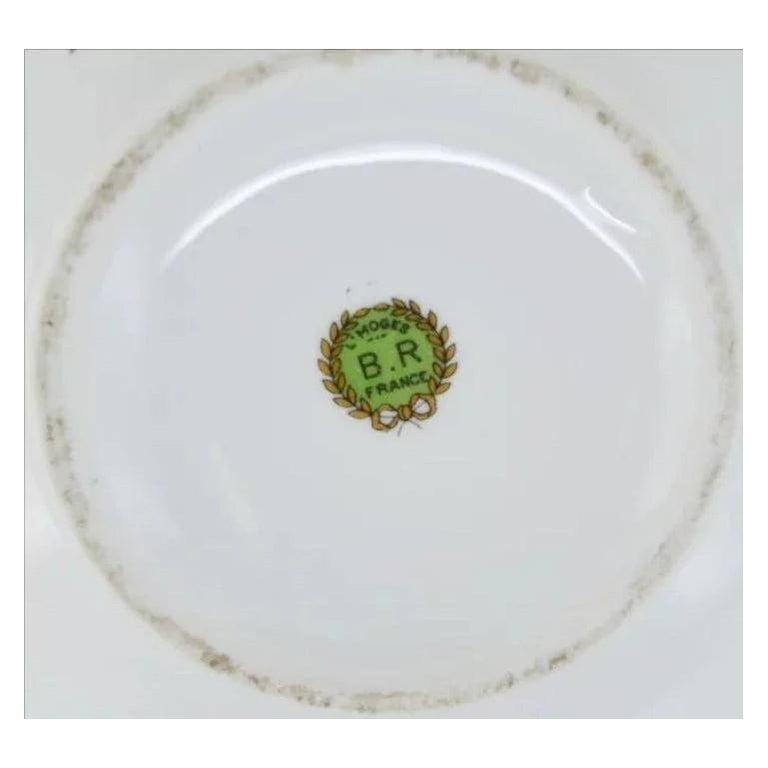 French Art Deco Porcelain Tea or Chocolate Set, Bernardaud & Baranger-Reboisson For Sale 2