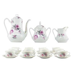 French Art Deco Porcelain Tea or Chocolate Set, Bernardaud & Baranger-Reboisson